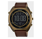 Pulsar Herrenuhr P5A030X1 Chronograph Digital Lederband 45mm 10 Bar Bronze