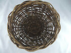 Primitive Bent Wood Twig Woven Round Basket