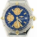 BREITLING CHRONOMAT 18K GOLD & STAINLESS STEEL WITH BLUE DIAL 40MM CASEB 13352