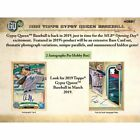 2019 Topps Gypsy Queen Baseball Sealed Hobby Box - Presell 3 27 18 Release Date