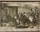 Nativity Scene Christmas Antique Master Ink Drawing Of A Nativity Scene