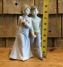 Vintage Lladro Handmade In Spain DAISA 2001 Boy And Girl Porcelain Figurines 9""