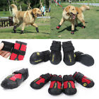 Reflective Dog Shoes for Large Dogs Waterproof Anti slip Rubber Rain Snow Boots