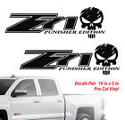 Chevy Z71 Punisher 4x4 Off Road Truck Silverado Chevrolet Decal Vinyl Decals
