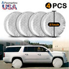 4Pcs 27'' Canvas RV Wheel Tire Covers Tire Protector Cover Set for Trailer Car