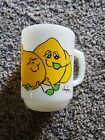 Vintage Anchor Hocking Milk Glass Nancy Lynn Smiling Lemon Family Coffee Cup Mug