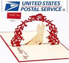 New 3D Pop Up Wedding Day Couple Anniversary Love Valentine Greeting Card