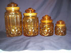 Amber Moon and Stars 4 piece canister set. Nice!