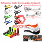 Dirt Bike Clutch Brake Pivot Levers Guards Handguard Protectors Handlebars Grips