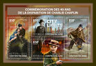 Z08 Imperf CA17606a Central Africa 2017 Charlie Chaplin MNH Mint