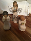 Willow Tree Angel of Miracles Hope Prayer set of 3 Susan Lordi Pre owned