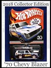 Hot Wheels 70 Chevy Blazer Collector Edition Mail In Away Exclusive Zamac 50th