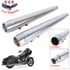 4 Slip On Mufflers Exhaust For Harley Touring Road King Electra Glide 1995 2016