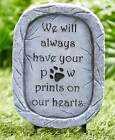 PET MEMORIAL Stone Statue Garden STAKE Yard Outdoor Dog Cat Grave Marker Plaque