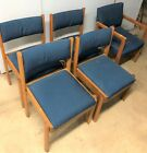 Vintage Mid Century Modernist Dining Worship Chairs Made in USA by Sauder Lot 5