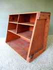 Antique Wall Shelf Military Box Primitive Wood, 16