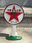 Cast Iron TEXACO GAS STATION Doorstop Display Bookend Advertising Sign
