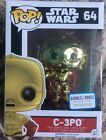 Star Wars Episode 7 The Force Awakens C-3PO Pop Vinyl Chrome Exclusive B