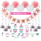 Baby Shower Decorations 40 pcs Kit for Girl Pink Its a Girl Mommy to be Banner