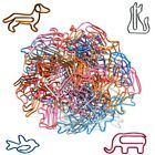 Paper Clips Cat Dog Shape Multi Colors Animal Shapes For School Office Supplies