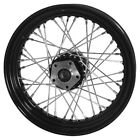 COMPLETE BLACK 16X300 FRONT REAR 40 SPOKE WHEEL FOR HARLEY BIG TWIN 1973 1984