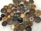 Lot of Antique Brown Tone Buttons Whistle Buttons Wood? Clay? Stone? Tan Cream