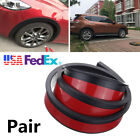 2X 5.5cm Widening Car Fender Flare Extension Wheel Eyebrow Rubber Protect Stripe