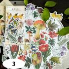 60pcs Phone Decoration Label Diary Paper Sticker Scrapbooking Plants Stickers-h