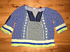 Womens Crown  Ivy Yellow Blue Shirt Top Blouse Plus Size 2X Nice Colorful