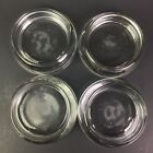 4 Lot Vtg Anchor Hocking Clear Glass Furniture Floor Coaster Caster Cup 3