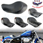 Wide Rider Driver Solo Seat For Harley Sportster XL 883 XL 1200 Custom 2004-2015