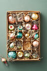 Anthropologie Vintage Inspired Mini Christmas Ornaments Boxed Set of 20 NEW