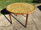 Mid Century Modern MARTZ MARSHALL STUDIOS CIRCLE Coin TILE GAME DINING TABLE MCM