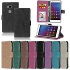 For Samsung Sony Apple Iphone Wallet Card Matte Leather Case Cover Skin TPU DK