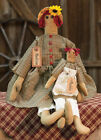 MADDIE DOLL Country Fabric Cloth Rag Farmhouse Folk Art