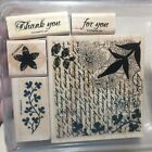 Stampin Up FRESH CUTS stamp set FLOWERS LEAVES SCRIPT THANK YOU