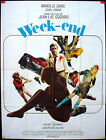WEEKEND  JEAN LUC GODARD 1967 VINTAGE ORIGINAL GRANDE ONE PANEL POSTER 4x6 ft