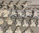 Lot of 30 Christmas Snowman Ornaments silver and white vintage