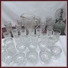 Wexford 47 pc. Glass Set Pitcher, Sherbert, Plates, Tumblers, Goblets, Cordials