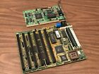 386 MOTHERBOARD AM386SX 40 CPU 8MB RAM ALI CHIPSET TRIDENT ISA VGA CARD TESTED