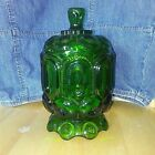 Stars Green Compote Candy Jar With Lid
