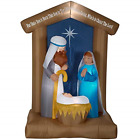 Holiday Inflatable Nativity Scene Yard Display 650 ft Pre Lit LED Lights