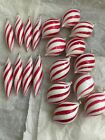 Christmas Trimmeries by Bradford 19 Handcrafted Glass Peppermint Swirl Ornaments