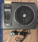 Vintage GE Gray LOUD MOUTH Power Sound Portable 8-Track Player #3-5503