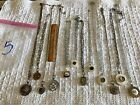 Lot 5 Antique Sewing Fancy Button Necklaces Jewelry Vintage Victorian RePurposed