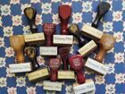 Huge Lot Vintage Wooden Handled Allen Stamps Oklahoma Cities Post Mail Shipping