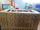 MOVING .VINTAGE 15 DRAWER LIBRARY FILE CARD CATALOG STORAGE CABINET