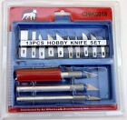 13 piece Hobby Knife Set Cutting Blades + Box for Precision Cut for Craft Work