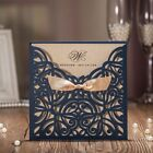 Wedding Invitations Single Page Hollow Card Custom With Ribbon Decoration Party