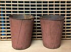 2 OLD TIN SAP BUCKETS Maple Syrup PLANTERS Flowers GREAT DECOR!